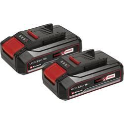 Náhradný akumulátor pre elektrické náradie, Einhell Power X-Change PXC-Twinpack 2,5 Ah 4511518, 18 V, 2500 mAh, Li-Ion akumulátor