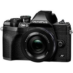Digitálny fotoaparát Olympus OM-D E-M10 Mark IV 1442 EZ Pancake Kit (EZ), 21.8 Megapixel, čierna