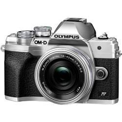 Digitálny fotoaparát Olympus OM-D E-M10 Mark IV 1442 EZ Pancake Kit (EZ), 21.8 Megapixel, strieborná