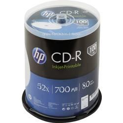 Image of HP CRE00021LWIP CD-R Rohling 700 MB 100 St. Spindel Bedruckbar