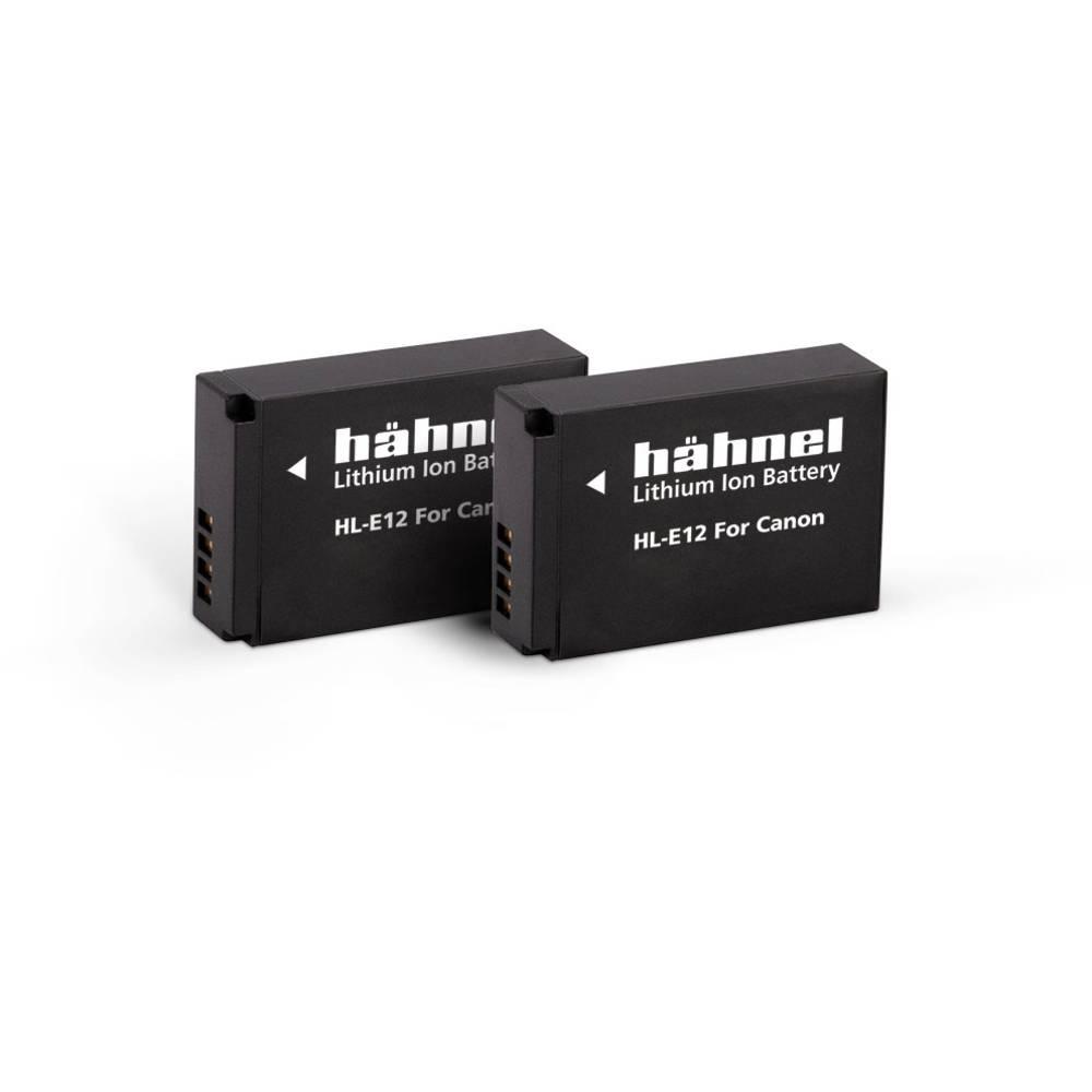 Hähnel HL-E12, 2er Camera-accu Vervangt originele accu LP-E12 7.2 V 850 mAh