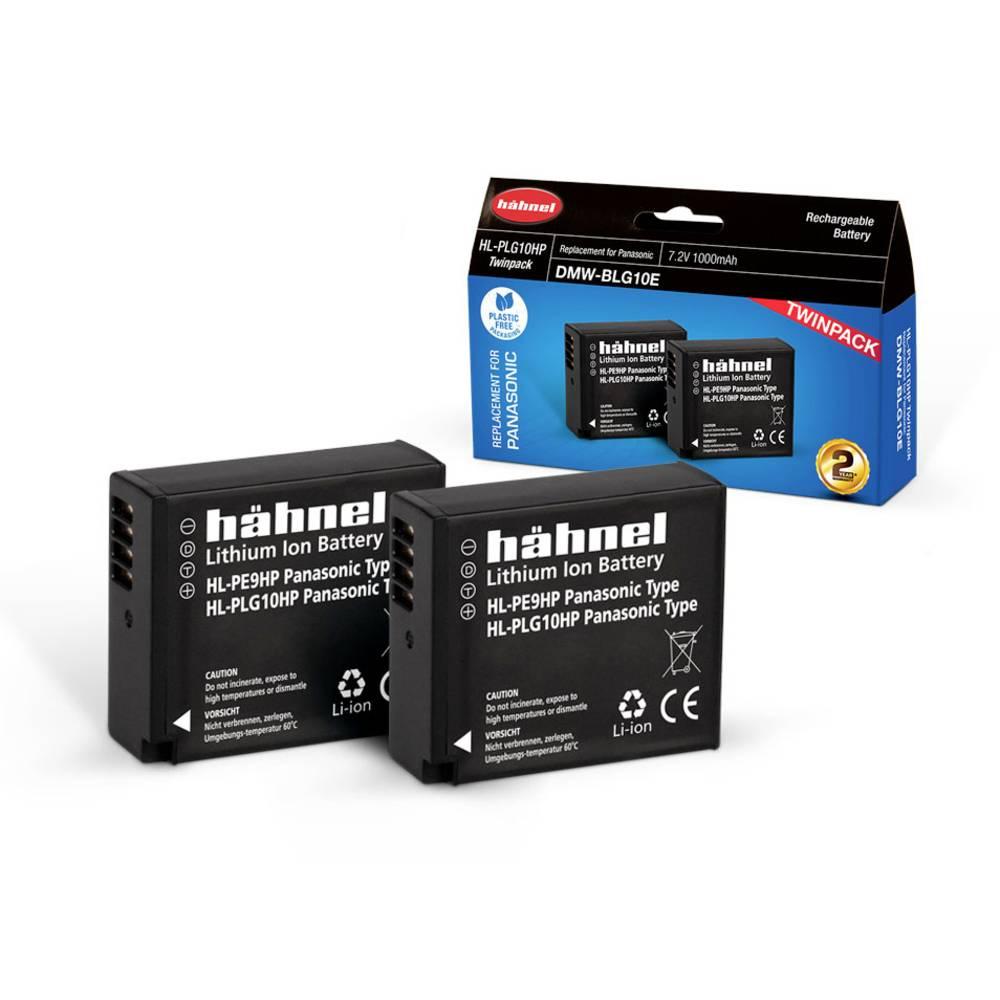 Hähnel HL-PLG10, 2er Camera-accu Vervangt originele accu DMW-BLG10E 7.2 V 1000 mAh