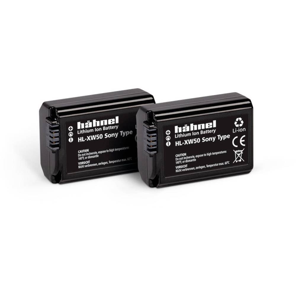 Hähnel HL-XW50, 2er Camera-accu Vervangt originele accu NP-FW50 7.2 V 1000 mAh
