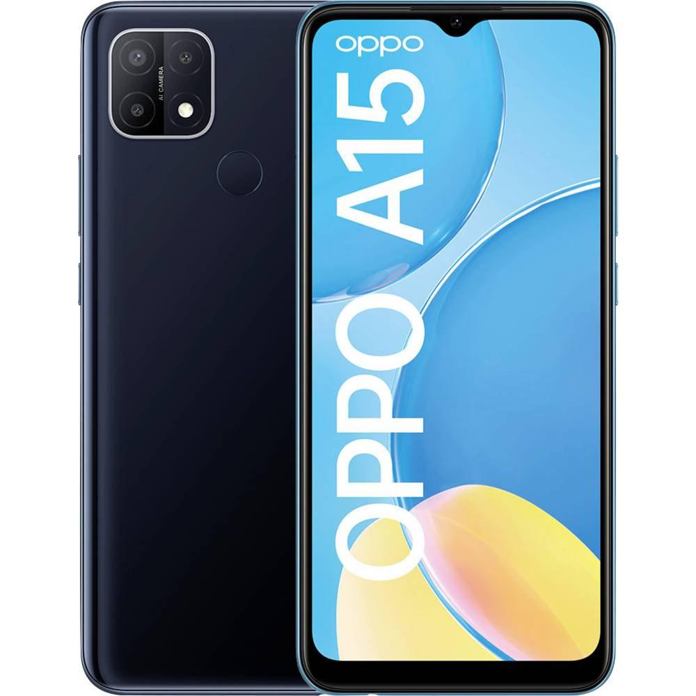 Image of OPPO A15 Smartphone LTE dual SIM 32 GB 6.5 pollici (16.5 cm) Dual-SIM Android™ 10 Nero