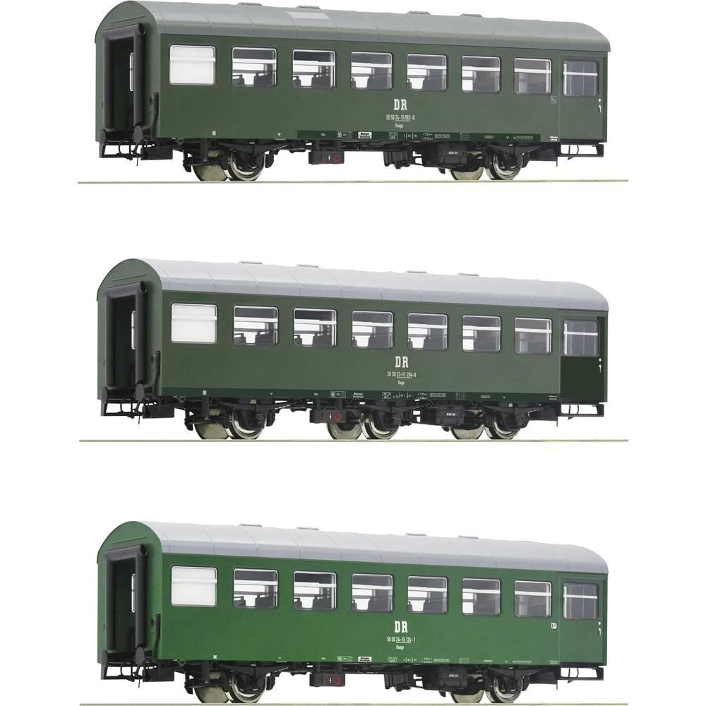 Roco 74071 H0 RO set van 3 (2) rekowagons van de DR