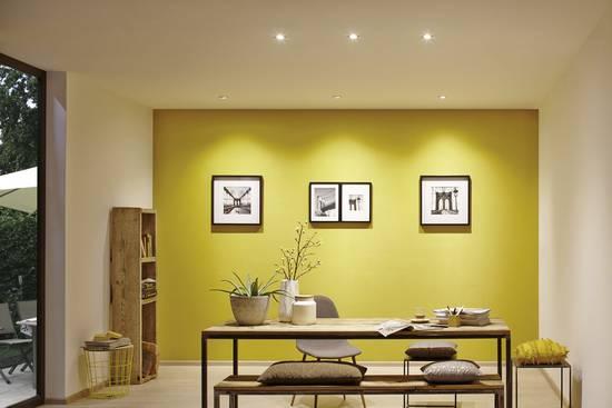 LED-Einbaustrahler im Wohnbereich