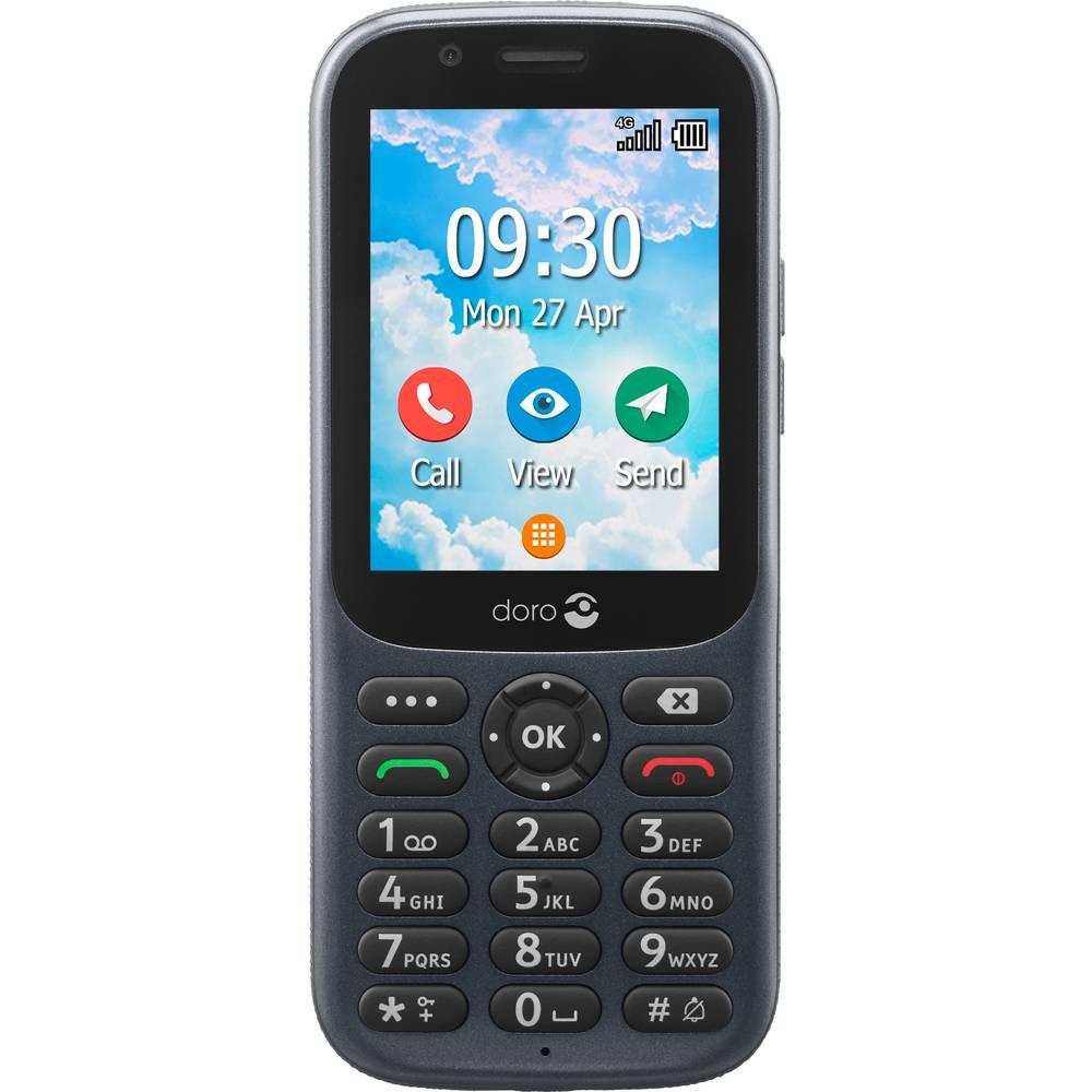 Doro 730X Senioren mobiele telefoon IP54, SOS-knop Grafiet