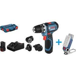 Aku vŕtací skrutkovač Bosch Professional GSR 12V-15 FlexiClick + GLI DeciLED 12 V, 2 Ah, Li-Ion akumulátor