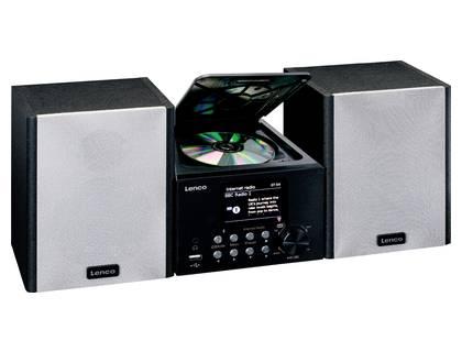 Stereoanlage mit Radio (UKW, Internetradio, DAB+), CD-Player, Bluetooth und USB-Schnittstelle