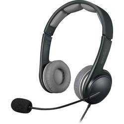 Headset k PC SpeedLink SL-870002-BKGY na ušiach s USB stereo, káblový čierna/sivá