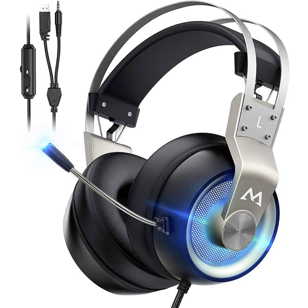 Mipow EG3 Pro Gaming headset 3.5 mm jackplug, USB Kabelgebonden, Stereo Over Ear Zwart