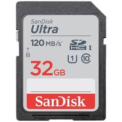 Pamäťová karta SDHC, 32 GB, SanDisk SDHC Ultra 32GB (Class 10/UHS-I/120MB/s), Class 10, UHS-I