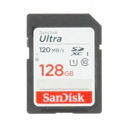 SDXC karta, 128 GB, SanDisk SDXC Ultra 128GB (Class 10/UHS-I/120MB/s), Class 10, UHS-I