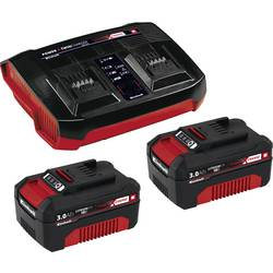 Akumulátor do náradia a nabíjačka, Einhell Power X-Change 2x 3Ah & Twincharger Kit 4512083, 18 V, 3 Ah, Li-Ion akumulátor