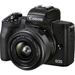 Systémový fotoaparát Canon EOS M50 Mark II EF-M 15-45 STM Kit, 24.1 Megapixel, čierna