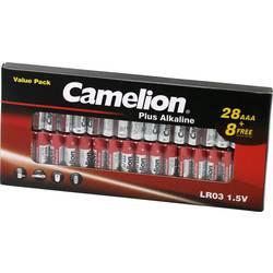 Tužková batéria typu AA alkalicko-mangánová Camelion Plus LR03, 1250 mAh, 1.5 V, 36 ks