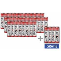 Mikrotužková batérie typu AAA alkalicko-mangánová Arcas 1.5 V, 36 ks