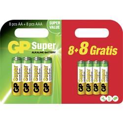 Image of GP Batteries Batterie-Set Micro, Mignon 16 St.