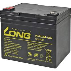 Olovený akumulátor Long WPL34-12 WPL34-12, 34 Ah, 12 V
