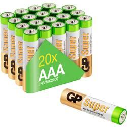 Mikrotužková batérie typu AAA alkalicko-mangánová GP Batteries GP24AET-2VS20, 1.5 V, 20 ks