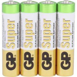 Mikrotužková batérie typu AAA alkalicko-mangánová GP Batteries GP24A 4/ LR03, 1.5 V, 4 ks