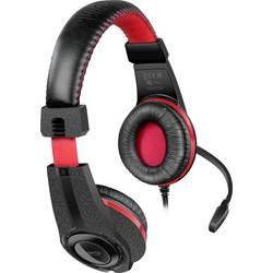 SpeedLink LEGATOS herný headset jack 3,5 mm káblový cez uši čierna, červená