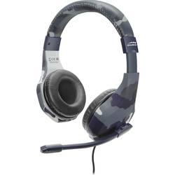 SpeedLink RAIDOR herný headset jack 3,5 mm káblový cez uši maskáčová modrá