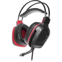 SpeedLink DRAZE herný headset jack 3,5 mm káblový cez uši čierna/červená