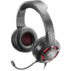SpeedLink CASAD herný headset 2x 3,5 mm jack (mic./slu.), s USB káblový cez uši čierna