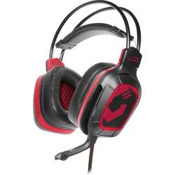 SpeedLink DRAZE herný headset 2x 3,5 mm jack (mic./slu.) káblový cez uši čierna/červená