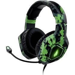 Surefire Gaming Skirmish herný headset jack 3,5 mm stereo, káblový cez uši maskáčová zelená