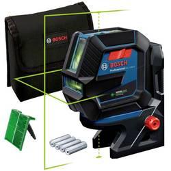 Krížový a bodový laser vr. tašky Bosch Professional GCL 2-50 G, Dosah (max.): 15 m, Kalibrované podľa: bez certifikátu