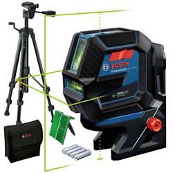 Krížový a bodový laser vr. statívu, vr. tašky Bosch Professional GCL 2-50 G & Tripod, Dosah (max.): 15 m, Kalibrované podľa: bez certifikátu