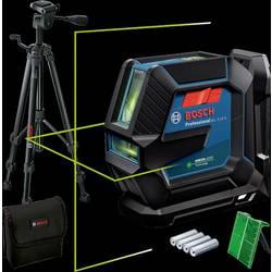 Krížová vodováha laserová vr. tašky, vr. statívu Bosch Professional GLL 2-15 G & Tripod, Dosah (max.): 15 m, Kalibrované podľa: bez certifikátu