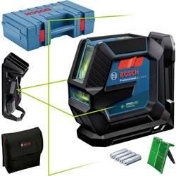 Krížová vodováha laserová vr. tašky Bosch Professional GLL 2-15 G, Dosah (max.): 15 m, Kalibrované podľa: bez certifikátu