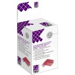 Krimpovacie sada TRU COMPONENTS T2010C363 4.8 mm x 0.5 mm, 90 °, úplne izolované, červená, 15 ks