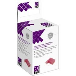 Krimpovacie sada TRU COMPONENTS T2010C364 4.8 mm x 0.5 mm, 90 °, úplne izolované, červená, 15 ks