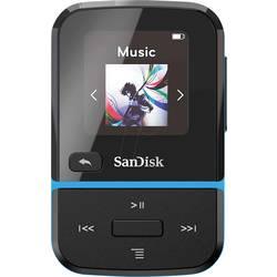 MP3 prehrávač SanDisk Clip Sport Go, 32 GB, upevňovací klip, FM rádio, nahrávanie hlasu, modrá