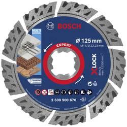 Diamantové rezacie kotúče EXPERT MultiMaterial X-LOCK, 125 x 22,23 x 2,4 x 12 mm Bosch Accessories 2608900670, Priemer 125 mm, 1 ks