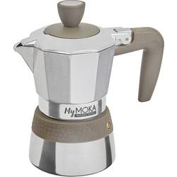 Kávovar na espresso a cappuccino MyMoka, striebornosivá