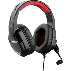 Trust GXT448 NIXXO herný headset 2x 3,5 mm jack (mic./slu.), jack 3,5 mm stereo, káblový cez uši čierna/červená