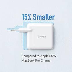 Image of Anker PowerPort Atom III 45W USB-C + 15W USB-A EU White Ladeadapter 230 V/AC - 5 V/9 A 60 W