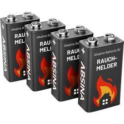 Image of Absina 401005-4 9 V Block-Batterie 9 V 4 St.