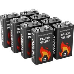 Image of Absina 401005-8 9 V Block-Batterie Alkali-Mangan 9 V 8 St.