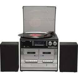 Stereo systém Denver MRD-166, DAB+, gramofón, SD, UKW, USB, čierna