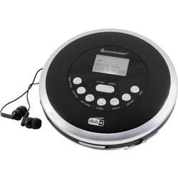 Prenosný CD prehrávač - diskman soundmaster CD9290SW, CD, CD-R, CD-RW, MP3, s USB nabíjačkou, možné znovu nabíjať, čierna