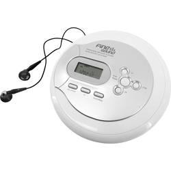 Prenosný CD prehrávač - diskman FineSound FS2, CD, CD-R, CD-RW, MP3, s USB nabíjačkou, možné znovu nabíjať, biela
