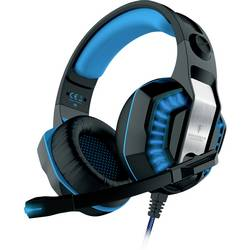 Berserker Gaming FREYER herný headset 2x 3,5 mm jack (mic./slu.), s USB káblový, stereo cez uši čierna, modrá