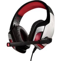 Berserker Gaming FAFNIR herný headset jack 3,5 mm, s USB káblový, stereo cez uši čierna, červená