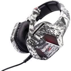 Berserker Gaming ARMY-EMBLA herný headset jack 3,5 mm, s USB káblový, stereo cez uši čierna, biela